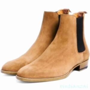 British-Men-Pull-On-Warm-Ankle-Boot-Leisure-Shoes-Desert-High-Top-Autumn-Chelsea