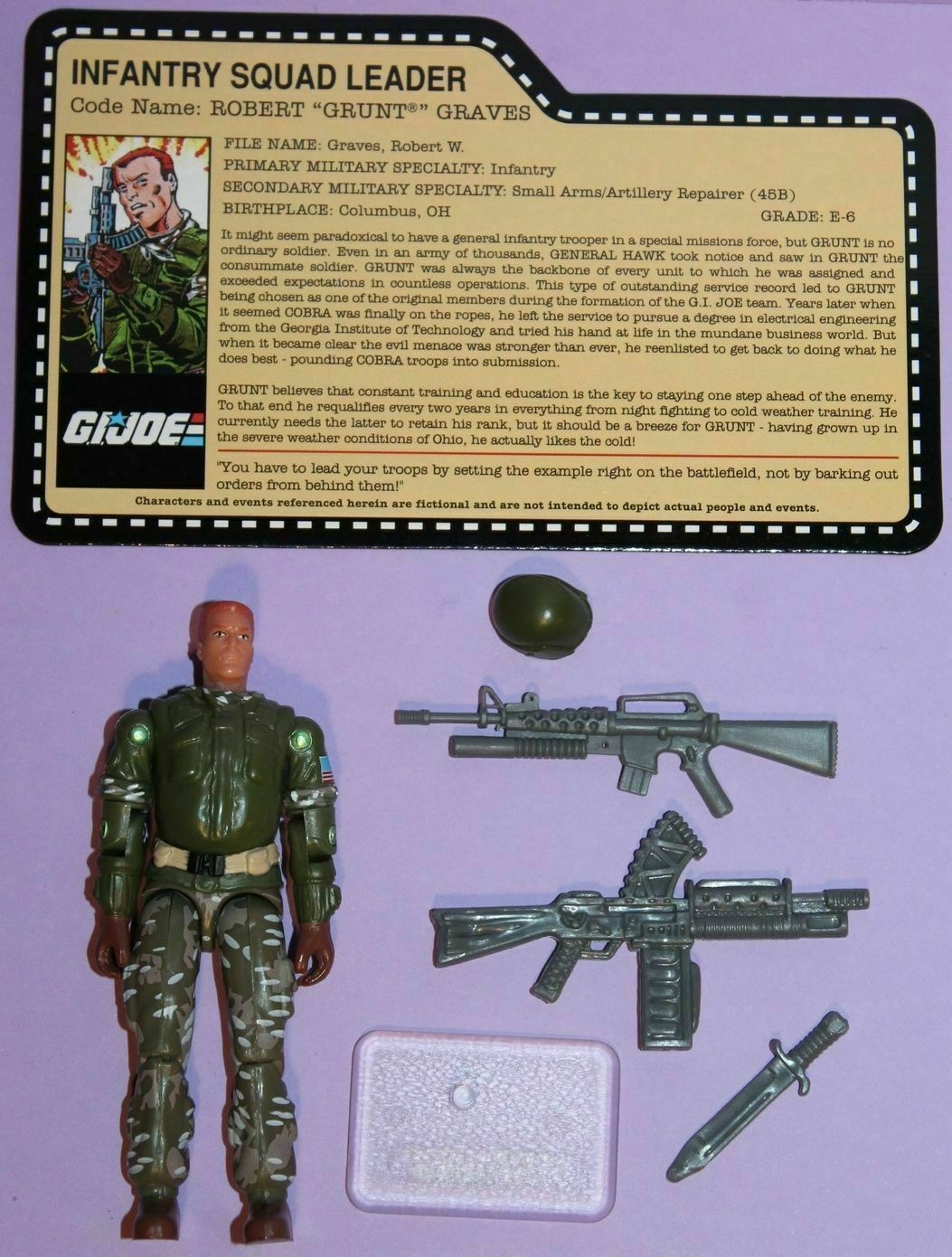 GI JOE ROBERT GRUNT GRAVES (Version 10) INFANTRY SQUAD LEADER Series  23 (2007)