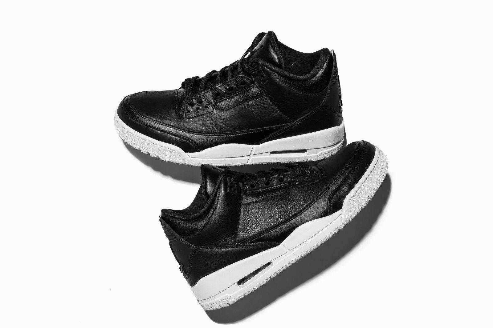 2016 Air Jordan 3 III Retro Cyber Monday SZ 9 Black Black White 136064-020