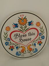 """8/"""" PA Dutch Hex Sign Bless This Family H-34 Made In The USA"""