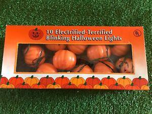 New-Set-Of-Ten-Halloween-Blinking-Jack-O-Lantern-Pumpkin-Blow-Mold-Lights