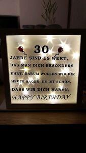 Details Zu Ribba Rahmen Bilderrahmen Mit Spruch Zum Geburtstag Led Und Sternenfolie