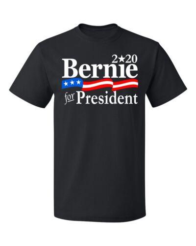 Bernie for President 2020 USA Flag Men/'s T-shirt election tee
