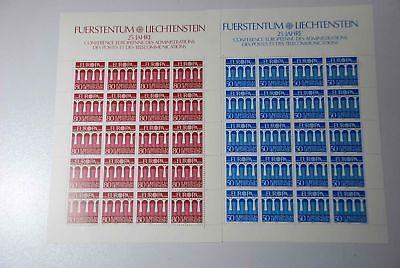 Postfrisch Modische Und Attraktive Pakete G1 Europa Liechtenstein Cept 837/838 Komplettbögen Briefmarken