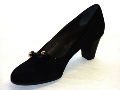 N Nabuk Donna 40 Con Scarpe Confort Pelle Fiocco Nero Eleganti q8TIFpwv