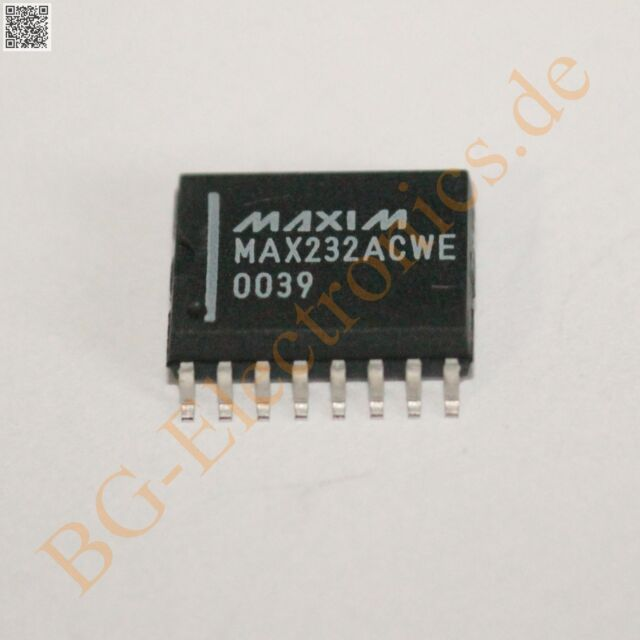 1 x MAX232ACWE +5V-Powered, Multichannel RS-232 Drivers/Rece Maxim SO-16 1pcs