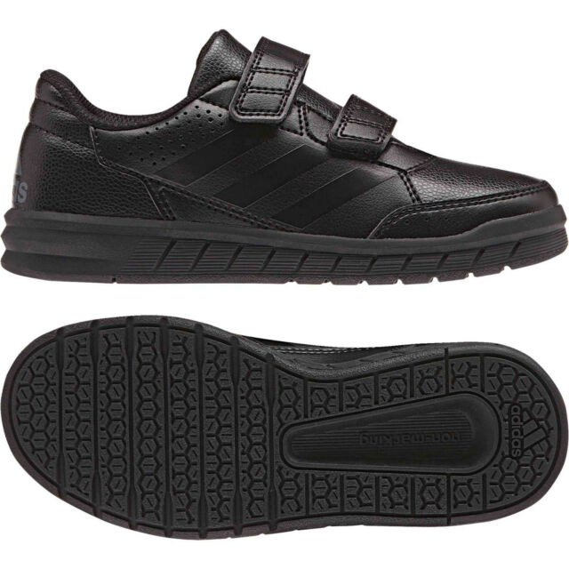 new arrival bf7af d6f08 adidas Altasport CF K Strap Triple Black Kids Youth Junior Running Shoes  Ba9526 3 Y for sale online   eBay