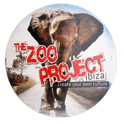 OFFICIAL Zoo Project Ibiza Club Sticker Elephant Logo 2012 Large RRP £4.00 9.5cm