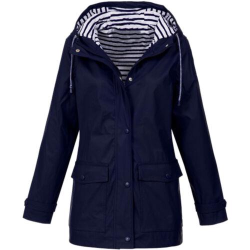 Autumn Women Rain Jacket Outdoor Waterproof Hooded Raincoat Windproof Plus Size