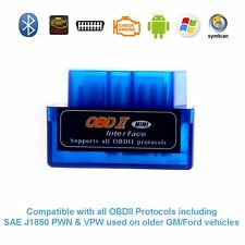 Super Mini ELM327 Bluetooth OBD2 Diagnostics Scanner v1.5 for Android Windows PC