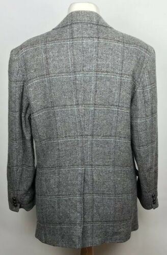 """Pendleton Homme Tweed Gris Made In USA Smart Blazer 44"""" XL pure laine vierge"""
