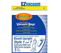Bissell Style 1 / 7 Upright Vacuum Cleaner Bags 30861 Or 3086