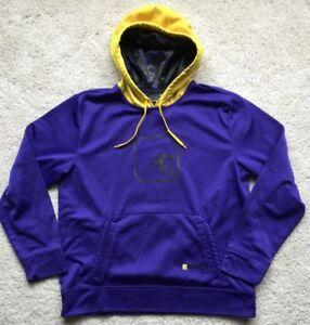 Vintage-And1-Mens-Basketball-Purple-Yellow-Sweatshirt-Hoodie-Size-L-G