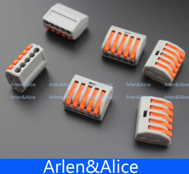 100pcs 5 Pin Universal compact wire wiring connector conductor terminal block