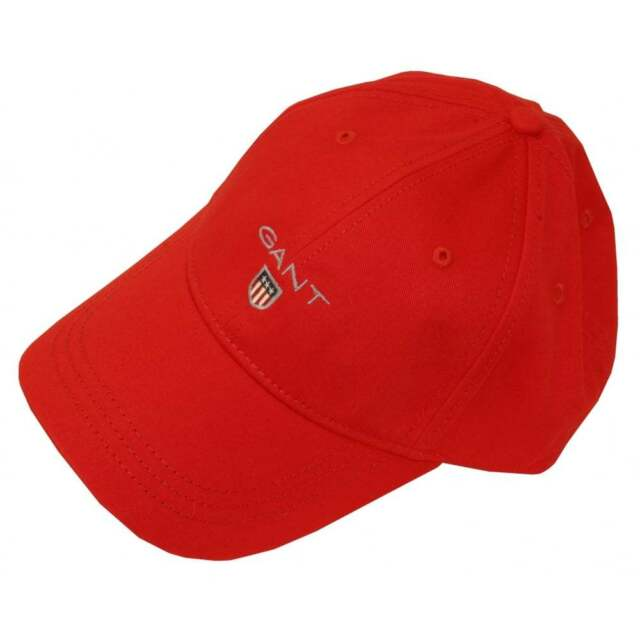 GANT Men s Twill Baseball Cap Red (bright Red) One Size for sale ... 0fee12c3215