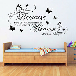 Butterfly Removable Art Vinyl Quote Wall Stickers Decal Mural Home .UK  eBay