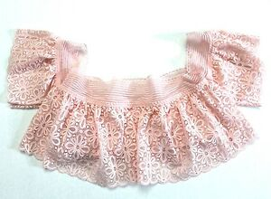 88022b5e0a1448 Victoria s Secret Lace Off-the-Shoulder Bralette Bra Top Size M Pink ...