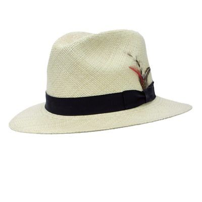 Same Day Shipping CAPAS DOWNBRIM PANAMA STRAW SUMMER HAT C273