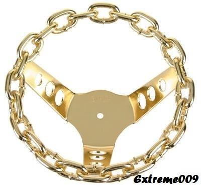 New gold CHAIN Lowrider Bike Steering Wheel Classic Bicycle Beach Cruiser