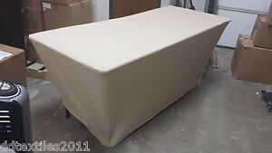 6ft Gold spandex buffet table covers,wedding,event,DJ,craft/tradeshows,party