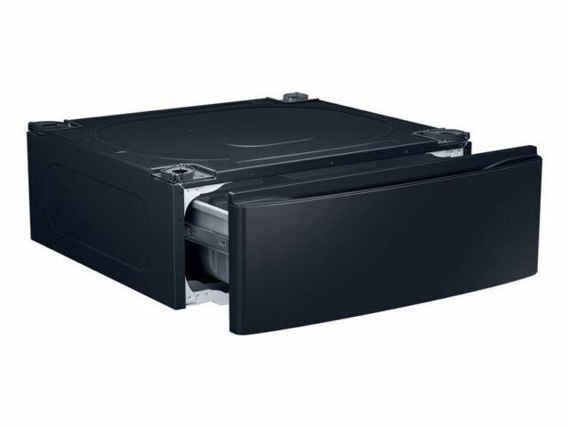 "Samsung 30/"" Washer Dryer Laundry Pedestal Onyx Black WE302NG New"