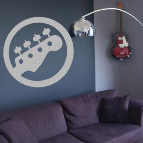 Sticker decoration music guitar logo round 10x10 cm 30x30 cm