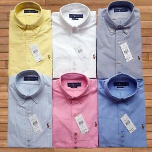 Polo-Ralph-Lauren-Para-hombres-Mangas-Largas-Camisa-Oxford
