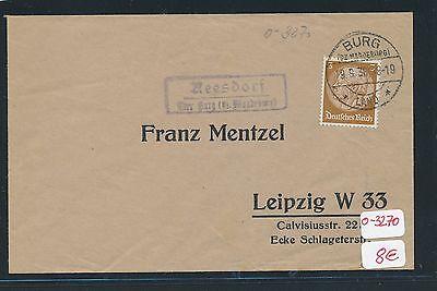 90534 Ds 1936 Gut FüR Energie Und Die Milz Dr > Ddr Landpost Ra2 Reesdorf über Burg bz Magdeburg