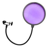 Seismic Audio - Flexible Microphone Wind Screen Studio Mic Pop Filter Purple on sale