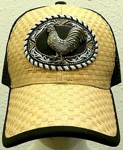 08cc6fc9f8b47 Details about FOWL ROOSTER CHICKEN COCK FARM GAME AMERICAN MEXICO MEXICAN  TRUCKER MESH CAP HAT