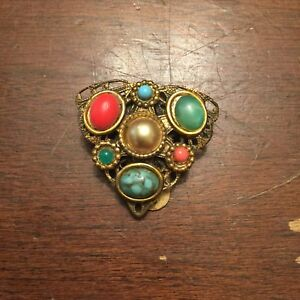 Vintage-Multi-Stone-Dress-Clip