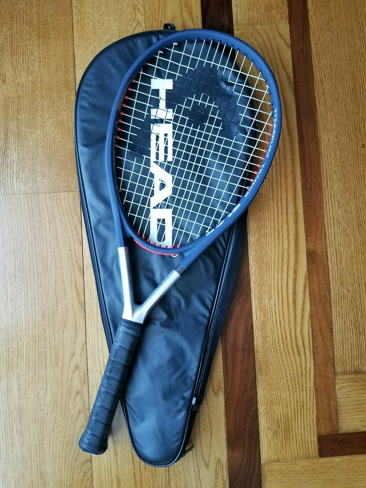 Head Ti.S5 Comfort Zone Tennis Racquet Grip 4 1 2 -4 Cover Case MINT