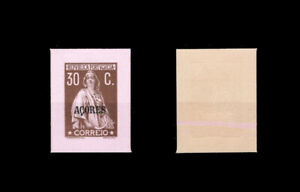 1912-Portugal-Azores-Ceres-30c-UNPERFORATED-PROOF