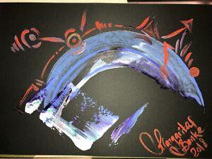 ORIGINAL-MALEREI-PAINTING-zeichnung-contemporary-ART-BILD-A4-abstrakt-abstract