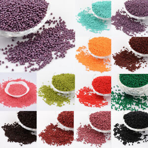 CHOOSE-COLOR-50g-11-0-2mm-Glass-Seed-Beads-Grade-A-Baking-Varnish-Opaque-Colour