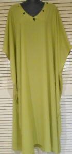 Long-Kaftan-Dress-Classic-Boho-Chiffon-Crepe-sequined-neck-Plus-Size-24-34-New