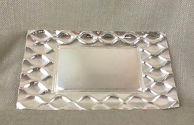 Silver Plated Modern Serving  Tray Decorative Rectangular Contemporary Design