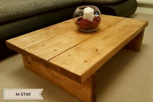 Details About Handmade Rustic Coffee Table Solid Pine Wood Handmade Furniture