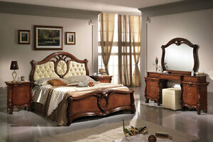schlafzimmer komplett set 6tl nussbaumfarbe stil. Black Bedroom Furniture Sets. Home Design Ideas
