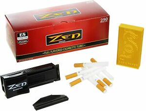 250-Zen-Full-Flavour-King-Size-Cigarette-Tubes-with-Shooter-and-Cigarette-Case
