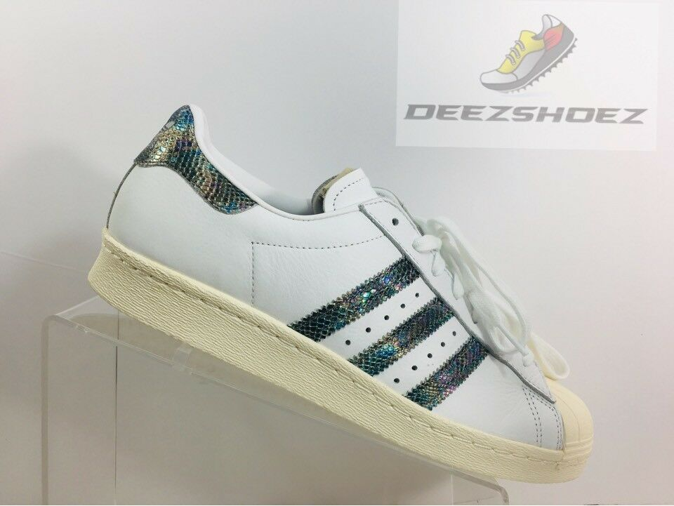 in stock d44b8 be957 Adidas Superstar 80S Leather White BZ0148 Mens Size 9.5 OriginalS Us  nonode799-new shoes