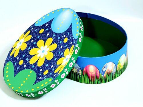 """Easter Egg Shaped Gift Box 6.5/""""x4.5/""""x2.25/"""" Glitter Treat Box Decor Paper Mache"""