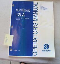 New Holland 12la Loader Operators Manual