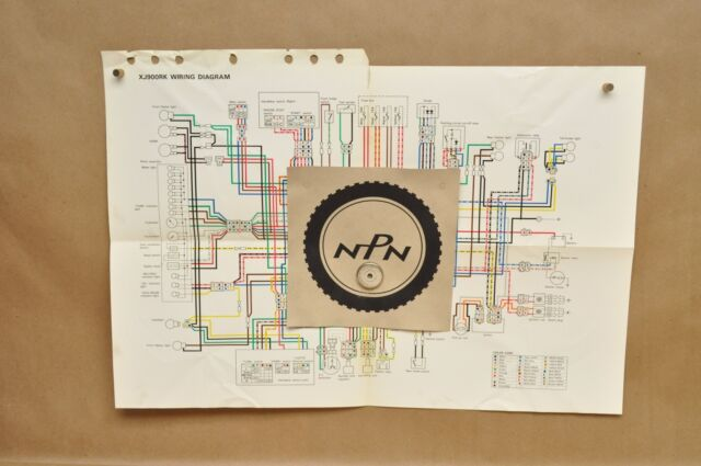 Vtg 1983 Yamaha Seca Xj900 Rk Factory Color Schematic Wire
