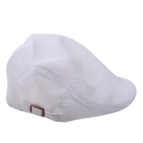 Men/'s Breathable Mesh Summer Hat Newsboy Cap Cabbie Beret Irish Flat Cap 6A
