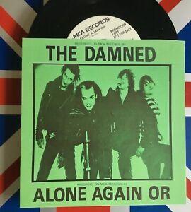 The-Damned-Alone-Again-Or-USA-7-034-PROMO-rare-custom-sleeve-Punk-m-m