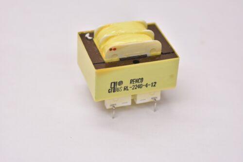 Renco RL-2240-4-12 Split Bobbin Power Transformer Lot of 2