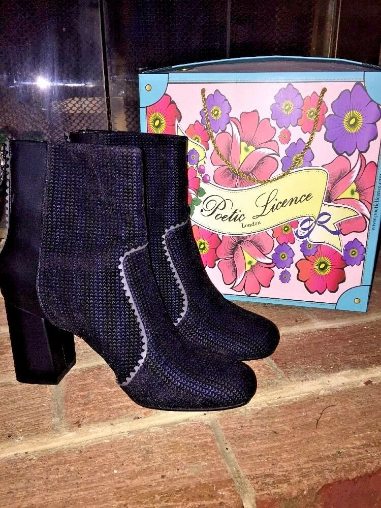 POETIC LICENCE 4 IRREGULAR CHOICE TOP THAT WOMENS BOOTIE BOOTS SHOES SIZE 9.5