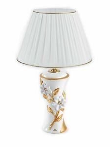 Lume medio 1 luce via veneto ceramica oro oggetti for Veneto arredo