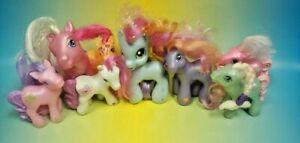 8 - G3 My Little Pony MLP Brushable Rare Horse Bundle Lot Era 2002-2006 Ponies